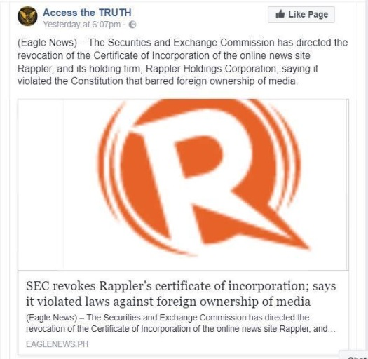 Rappler - Access the Truth
